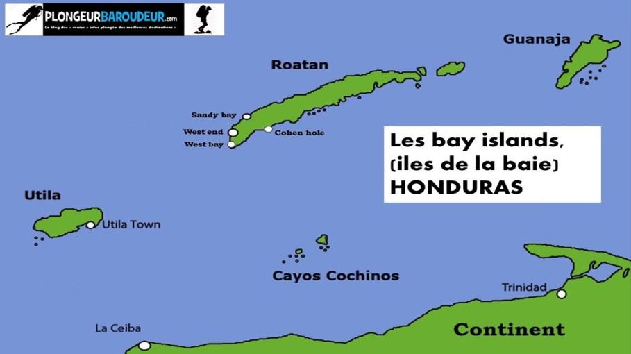 carte-iles-de-la-baie-carte-bay-islands-honduras