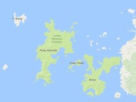 carte des komodos google map
