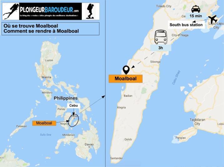 Carte comment arriver à Moalboal-min