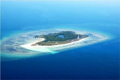 Apo island vue dessus