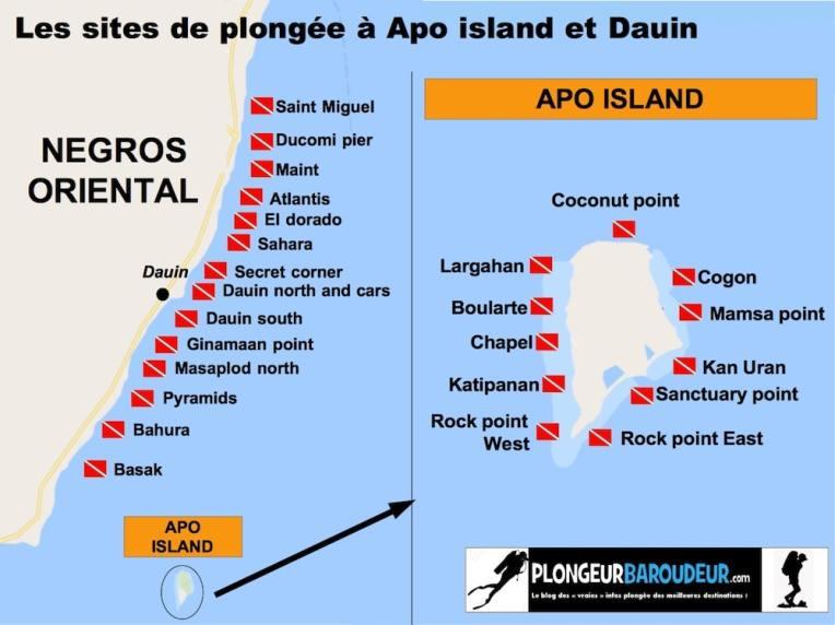 carte site Apo island et Dauin-min