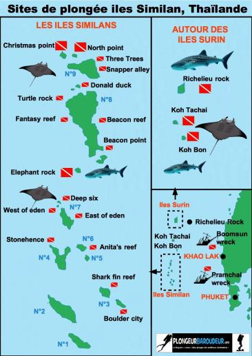 carte des sites Similan-min